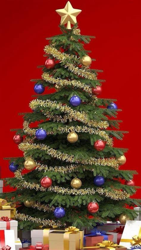 merry christmas tree phone wallpaper  hd wallpaper