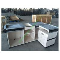 Anti Rust Steel Cash Desk Commercial Money Counters Table Design For