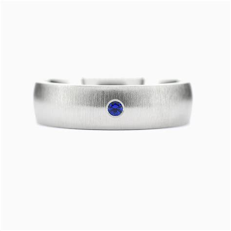 Dot wedding band in 950 Platinum, Blue Sapphire / Rings