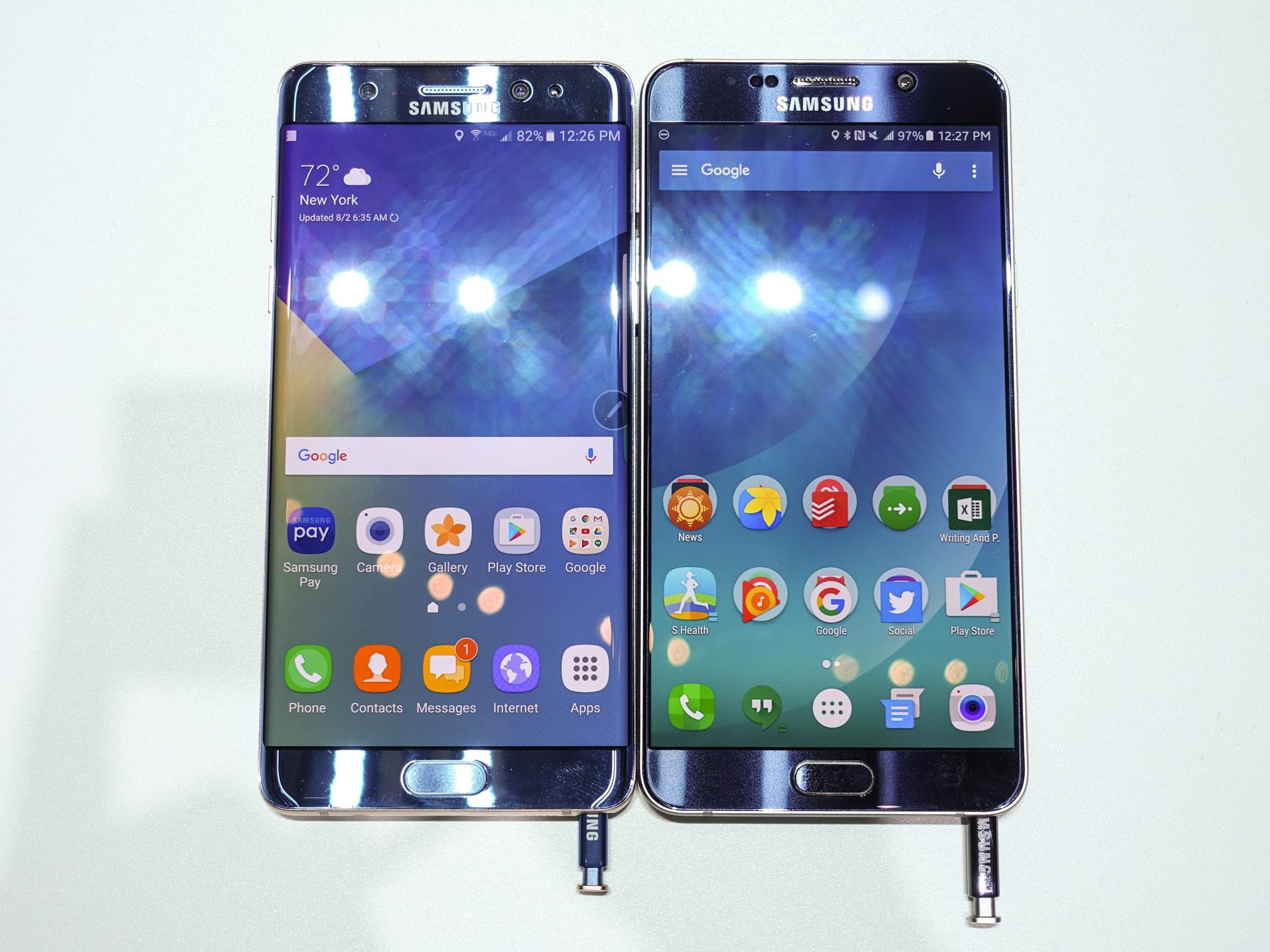 Galaxy Note 5 VS Galaxy Note 7