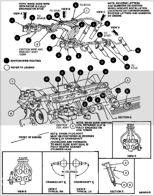 95 Crown Victorium Spark Plug Wire Diagram