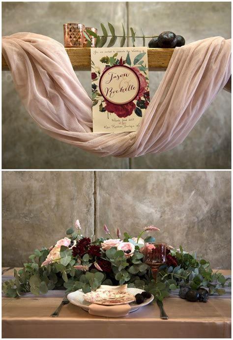 Decor   Details: Copper Burgundy and Blush Wedding {Mooi