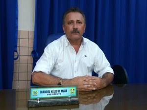Hélio Maia preside a Câmara Municipal de Lucrécia (Foto: Fred Carvalho/G1)