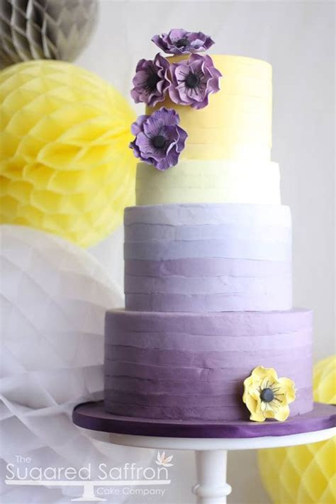 Colorful Purple Ombre Tiered Cake   **Decorated Cake