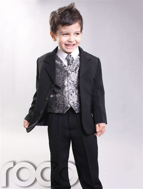 CHEAP SUITS FOR BOYS WEDDING PAGEBOY SILVER 3M 14YRS   eBay