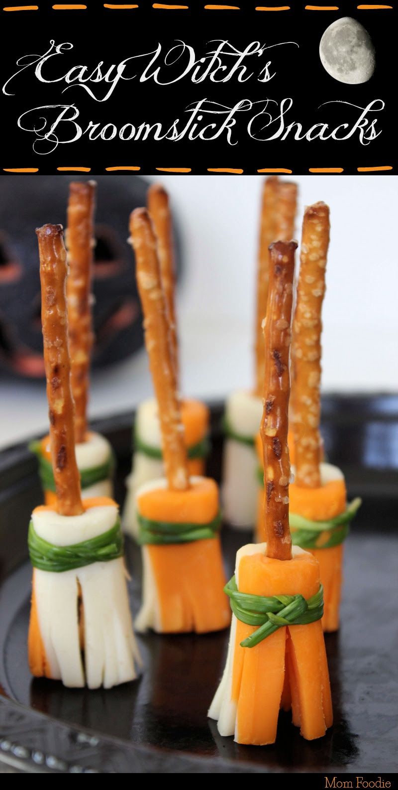 Witch Broomstick Snacks by Mom Foodie