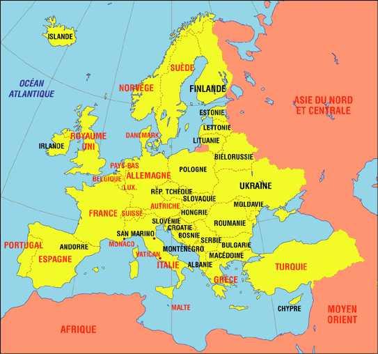Europe De L Ouest