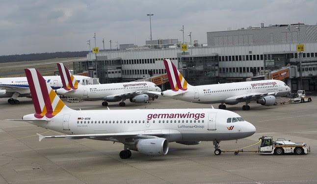 Aviones de Germanwings en el aeropuerto de Dusseldorf, a finales de marzo.