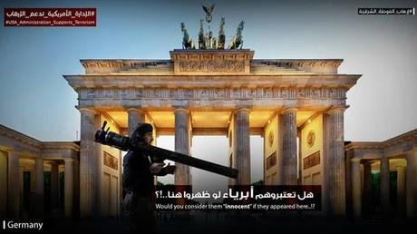 Posters of armed militants on European streets gain traction on social media