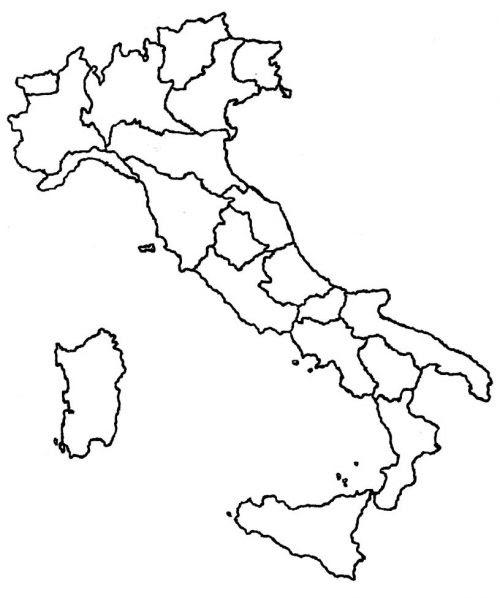 Italia Fisica Cartina Muta.Cartina Italia Muta Da Stampare Stampae Colorare