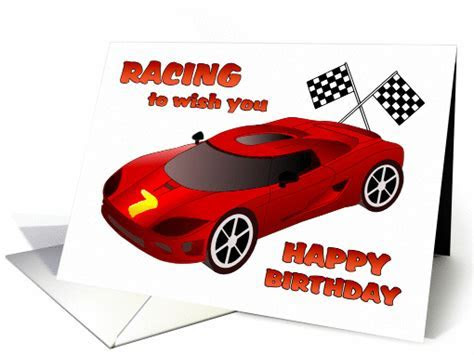 Happy 7th Birthday   Race Car Birthday card (1089726)