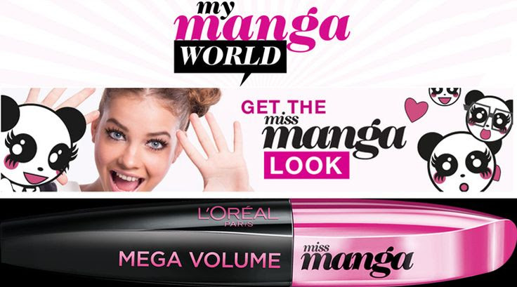 L'Oréal Paris Mega Volume Miss Manga Black Mascara 8.5ml | East End Cosmetics