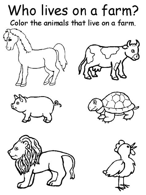 coloring pages animal matching worksheets