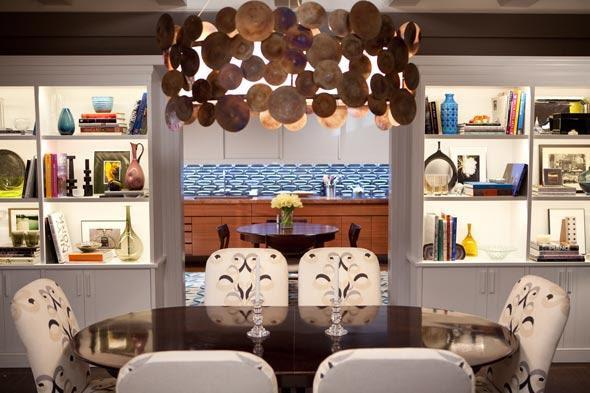 Suzie: Marks & Frantz - SATC Oval dining table, custom chairs upholstered in Lee Jofa Belgravia ...