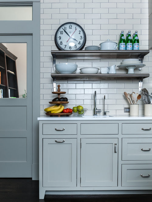 Farrow and Ball Hardwick White on this Modern Country kitchen