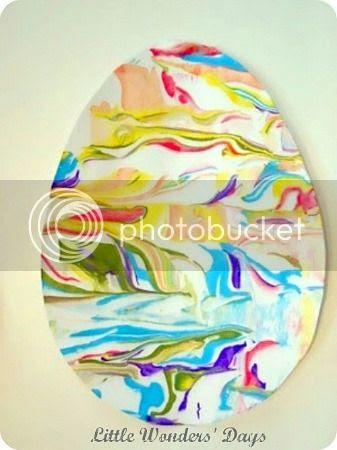 shaving cream painting, Easter