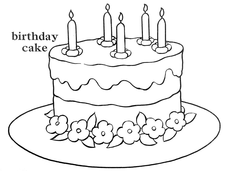 Drawing Cute Birthday Cake