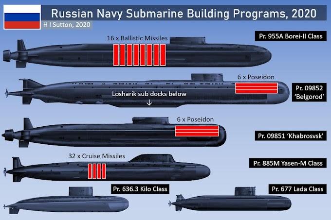 Seis classes de submarinos: a extrema modernização da marinha russa