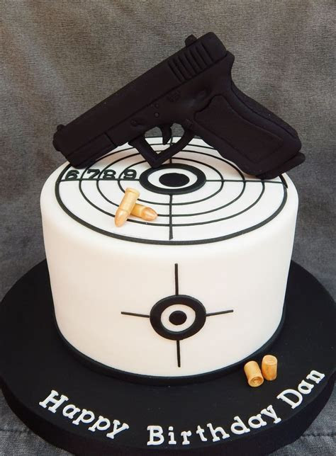 Gun And Target on Cake Central   Good recipes   Pinterest