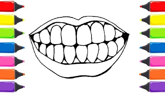 Diş Boyama Sayfası
