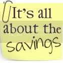 It's All About Savings