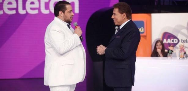Silvio Santos e o neto Tiago Abravanel no Teleton 2014