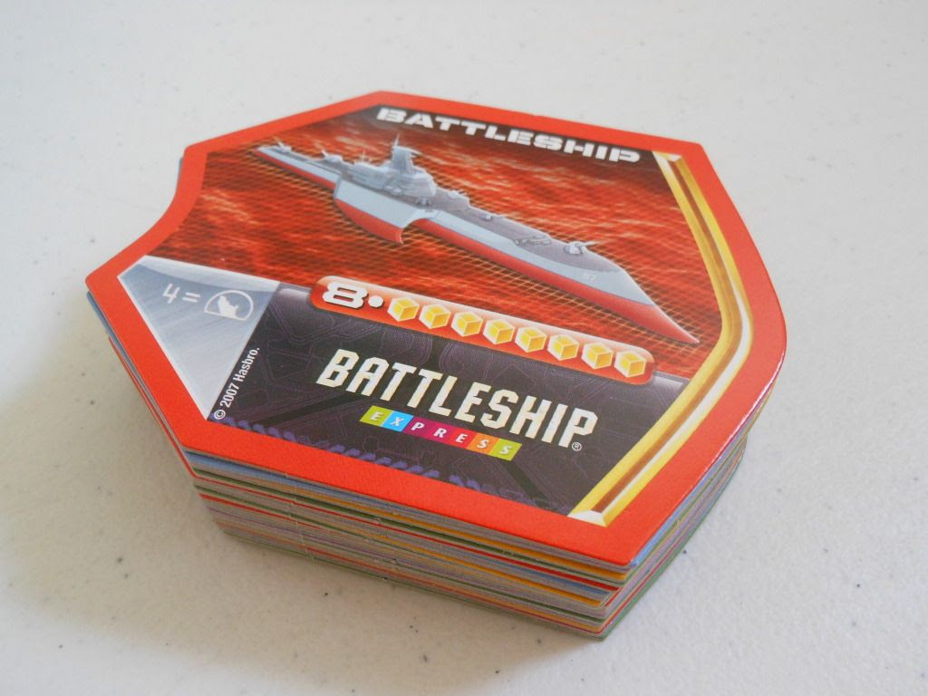 Battleship Express - the cards