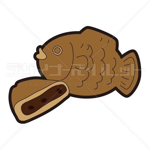 お菓子鯛焼き イラパレロイヤリティフリーのストックイラスト