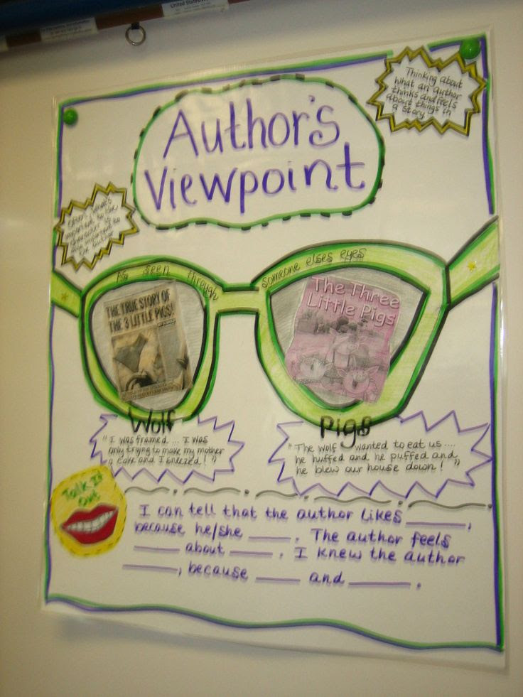 Author's Viewpoint. Cut out large butcher paper and have students read a small AR book. They will work together to figure out the authors purpose PIE, then their viewpoint. They will use the paper to write all the details they can to tell others what the PIE is and the authors viewpoint.