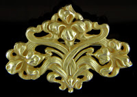 Art Nouveau iris brooch. (J9091)