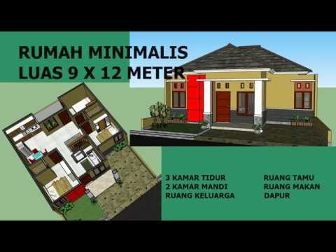 Denah Rumah Ukuran 9x15 3 Kamar - Berbagai Ukuran