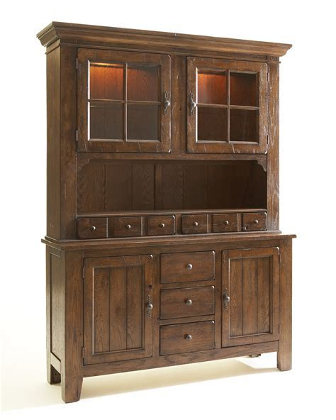 Broyhill Attic Heirlooms Rustic Oak China Cabinet 5399 65/5399 66