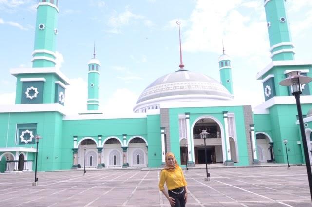 Cat Masjid Warna Hijau Laco Blog