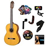 Yamaha CG142S Classical Guitar BUNDLE w/ Legacy Accessory Kit (Tuner, DVD, Picks, Capo and More)