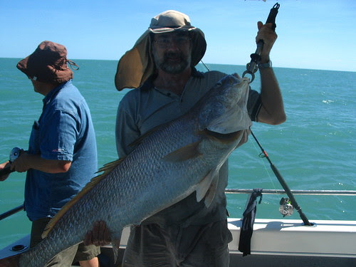 Dave Parkinson with Black Jewfish