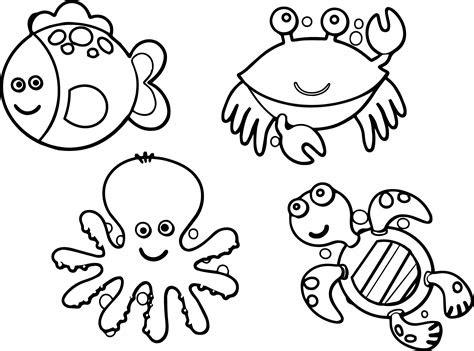 sea creatures coloring pages coloringsuitecom