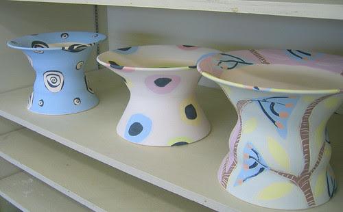 Crowell Studio cake plates