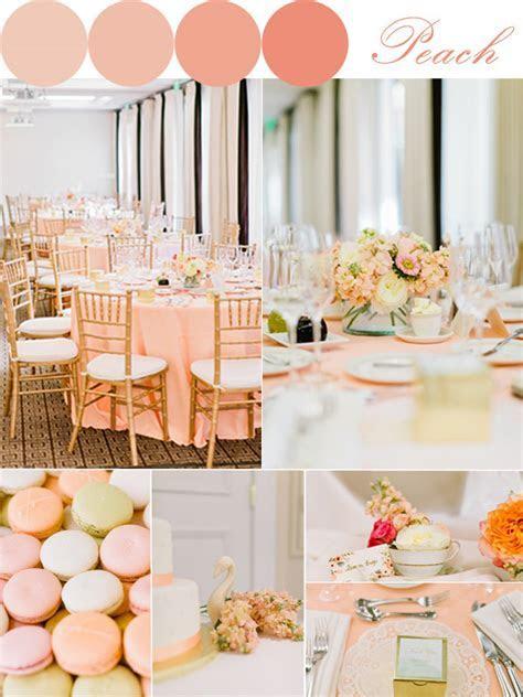 Peach Color Wedding Decorations