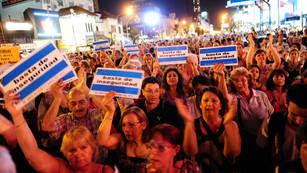 La protesta en Ramos Mejía.