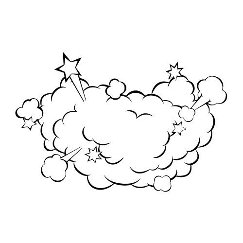 ケンカの砂埃イラスト 無料商用可能マンガ素材 イラレ用epsとpng