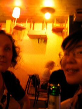 Ariana and Carolyn at Madame Claude's ExperiMontag!
