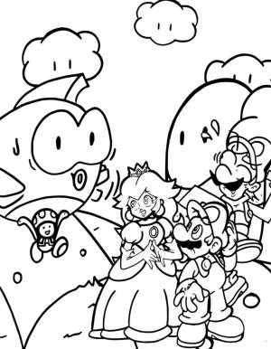 Mario Bros Para Colorear Pintar E Imprimir