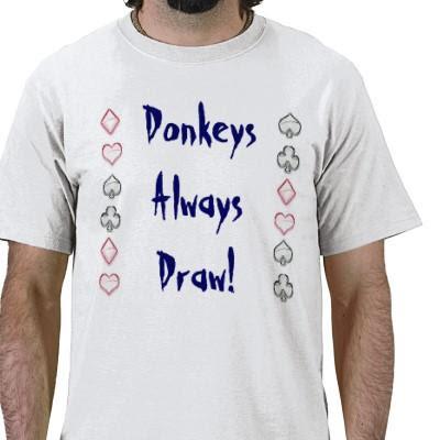 donkeys always draw