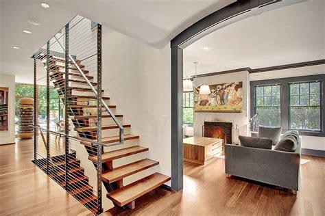 modern remodelled home  seattle  whimsical artwork
