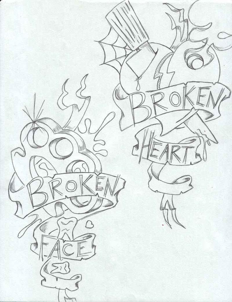 Pictures Of Broken Heart Tattoo Designs Black Rock Cafe