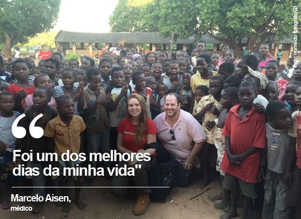 Selo Marcelo Aisen em Moçambique: Foi um dos melhores dias da minha vida (Foto: Marcelo Aisen/Arquivo pessoal)