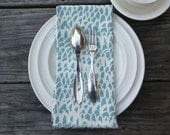 Screenprinted dinner napkin (seafoam) - MariekeRuys