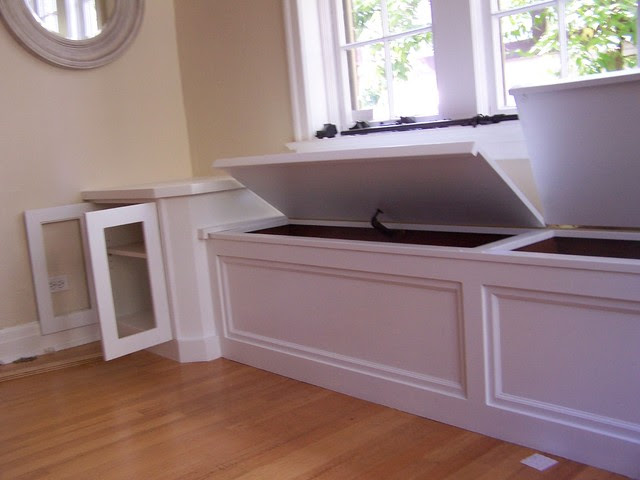 Window seat with corner cabinets - modern - denver - by AMF Custom ...