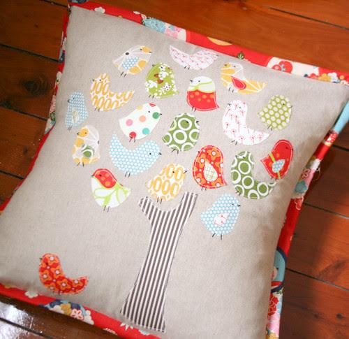 Pillow Swap - A little bird