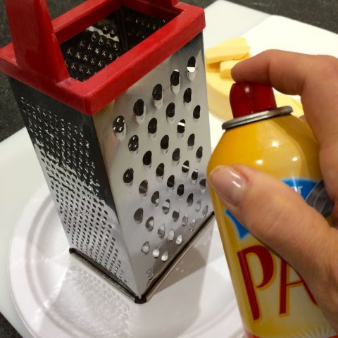 Spray Grater with Cooking Spray